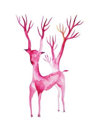 STELLA+SUJIN_2014_Eternite+rose_aquarelle+sur+papier_36+x+48cm